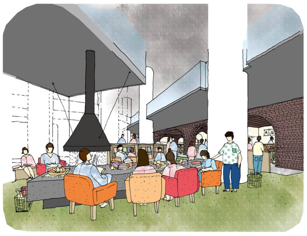 空のカフェ/炭鉱のレストラン