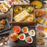 名物海鮮丼を含む和洋食バイキング