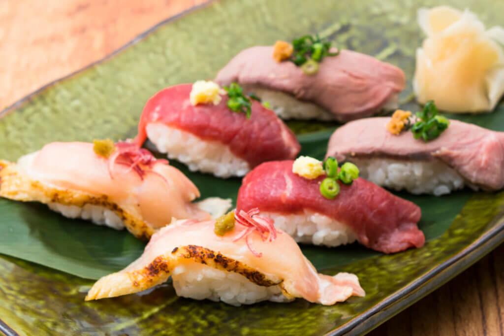 九州魂の肉の寿司 盛り合わせ