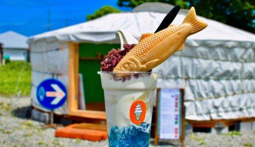 【CAFE STAND窓】積丹にモンゴルゲルで営むカフェスタンドがオープン!『倉島牛乳ソフトクリーム』に『積丹ブルーサンデー』も楽しめる