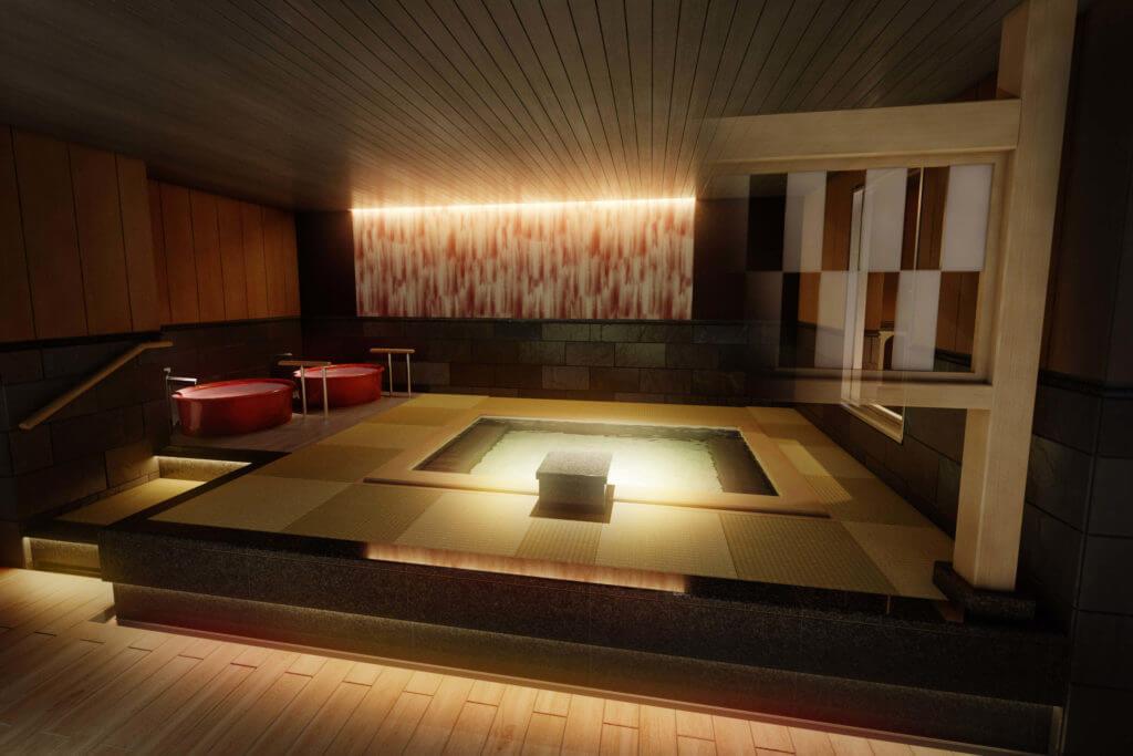 『函館湯の川温泉 海と灯(うみとあかり)/ヒューイットリゾート』-12階 畳風呂